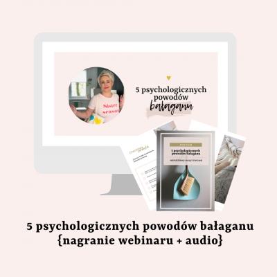 Webinar: 5 psychologicznych powodów bałaganu